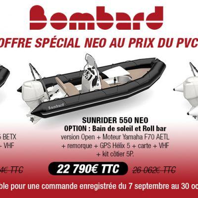 Offre spéciale NEO au prix du PVC sur 3 modèles jusqu'au 30 octobre 2020.