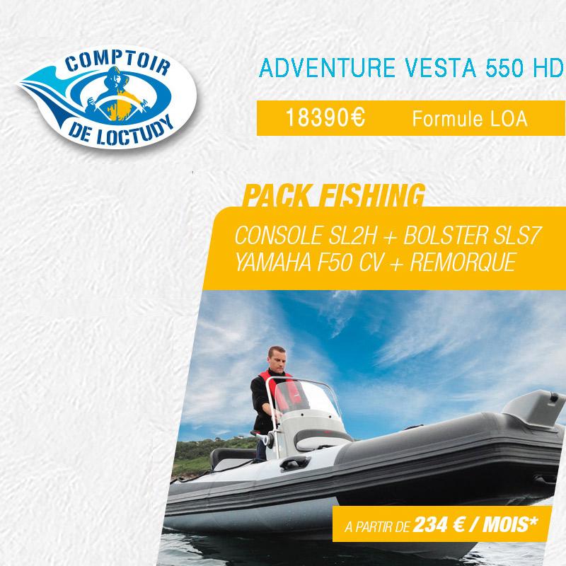 Pack-Fishing vesta adventure